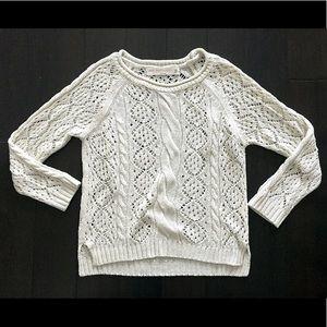 ZARA cream knit sweater sz M fits S!